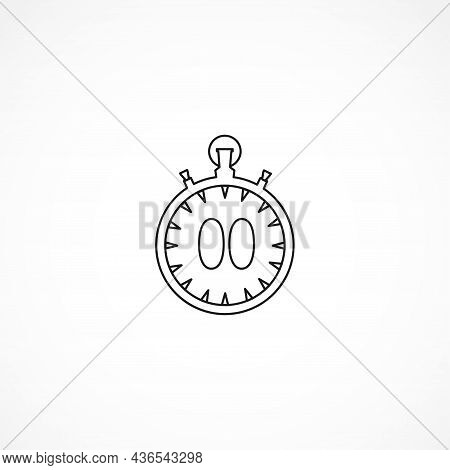 Stopwatch Line Icon. Isolated Stopwatch Line Icon. Stopwatch Isolated Line Icon