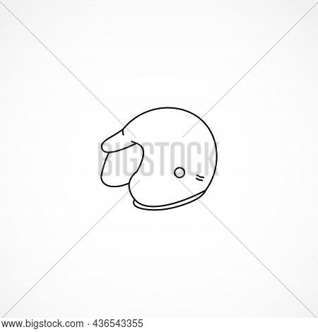 Motorcycle Helmet Line Icon. Helmet Line Icon. Helmet Isolated Line Icon