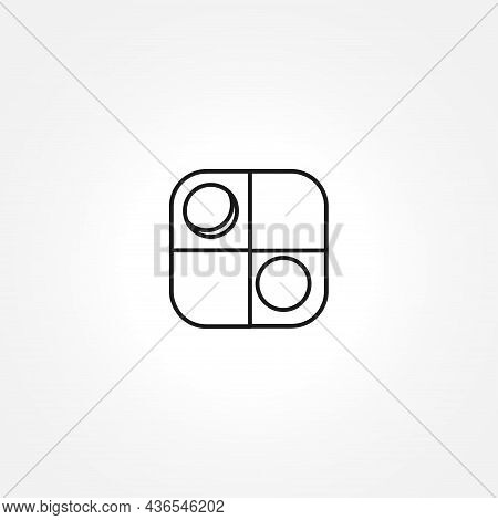 Game Of Checkers Icon On White Background