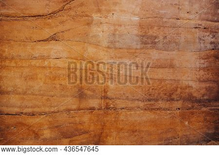 Soil Texture Layers For Natural Background. Abstract Nature Soil Patterned Layer Of Clay Soil For Th