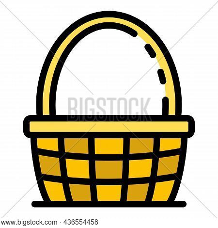 Traditional Wicker Icon. Outline Traditional Wicker Vector Icon Color Flat Isolated