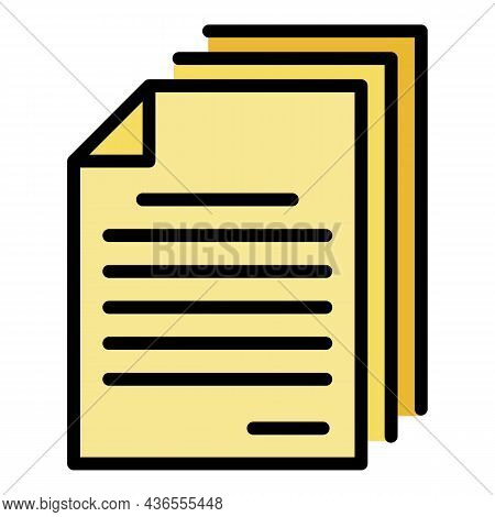 Online Parcel Paper Icon. Outline Online Parcel Paper Vector Icon Color Flat Isolated