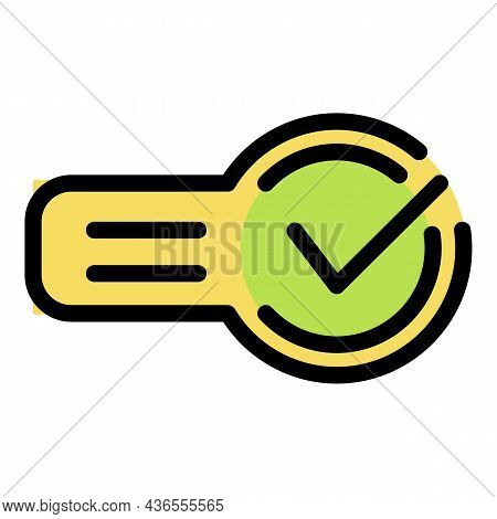 Approved Request Icon. Outline Approved Request Vector Icon Color Flat Isolated