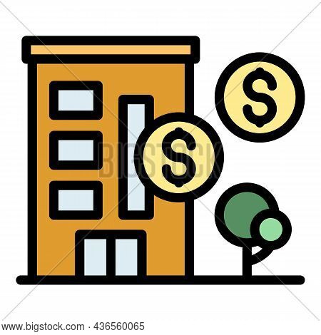 Homeless Shelter Icon. Outline Homeless Shelter Vector Icon Color Flat Isolated