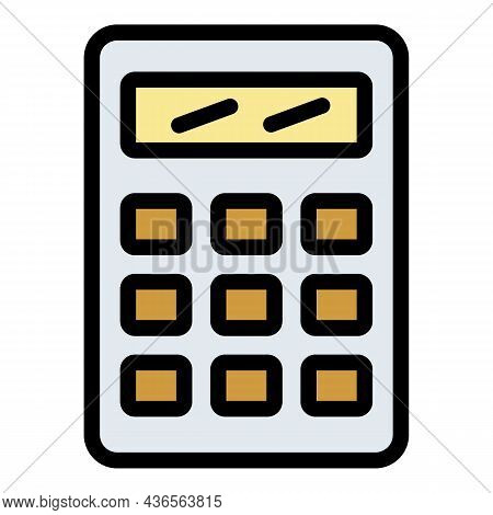 Finance Calculator Icon. Outline Finance Calculator Vector Icon Color Flat Isolated