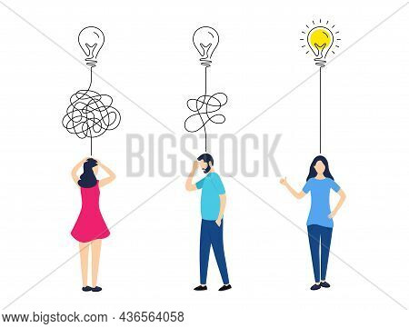 Simplify Purpose Background. Untangled Problem, Confused Mind, Trouble Anxiety. Mental Mind Stress A