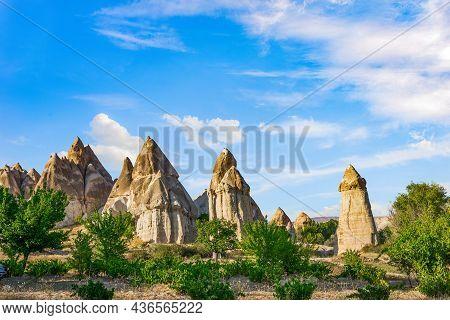 Rocks In Valley Of Love At Summer, Cappadocia