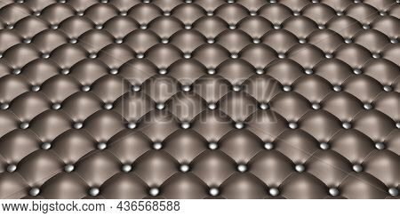 Upholstery Material Vinyl Or Tufted Black Leather Sofa Upholstery Background Furniture Decoration 3d