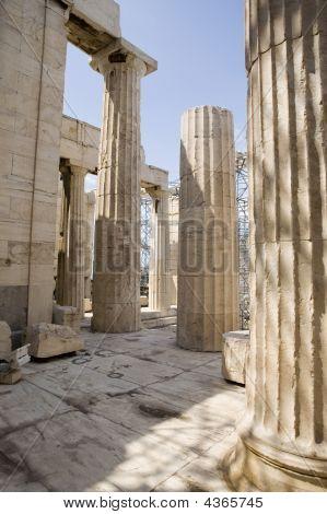 Acropolis Looking Through Columns