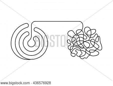 Tangle And Untangle, Change Logic Mind With Scheme And Confused Creative Thinking Brain, Continuous