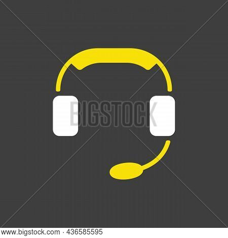 Call Center Glyph Icon. Support. E-commerce Sign. Graph Symbol For Your Web Site Design, Logo, App,