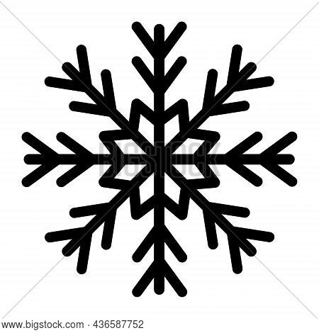 Snowflake Vector Icon. Winter Sign, Symbol Isolated On White Background