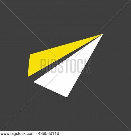 Paper Plane, Message Flat Glyph Icon. E-commerce Sign. Graph Symbol For Your Web Site Design, Logo,