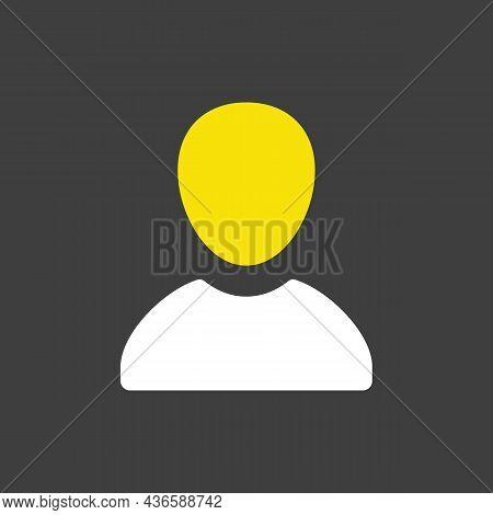 User Vector Glyph Icon. E-commerce Sign. Graph Symbol For Your Web Site Design, Logo, App, Ui. Vecto