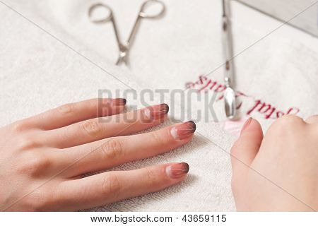 Nail manicure step by step