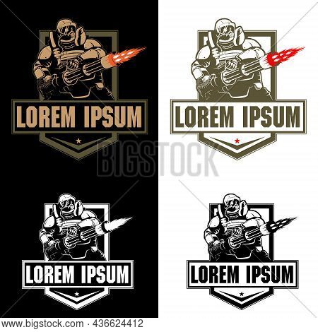 Heavy Armored Infantry The Juggernaut Class  Insignia For Esport Symbol Tshirt Or Any Other Purpose