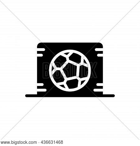Black Solid Icon For In Inside Ball Goal Soccer Competition Goal