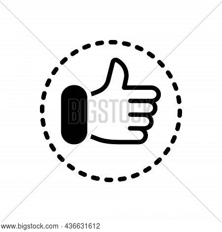 Black Solid Icon For Favour Approve First-choice Agree Thumb Satisfaction