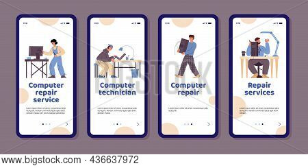 Smartphone Apps For Computer Repair Service Center With Professional Technicians