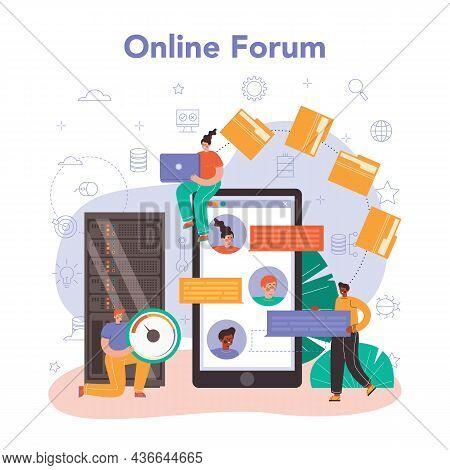 Data Base Administrator Online Service Or Platform. Manager Working