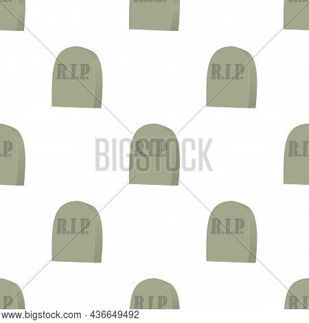 Monument On Grave Pattern Seamless Background Texture Repeat Wallpaper Geometric Vector