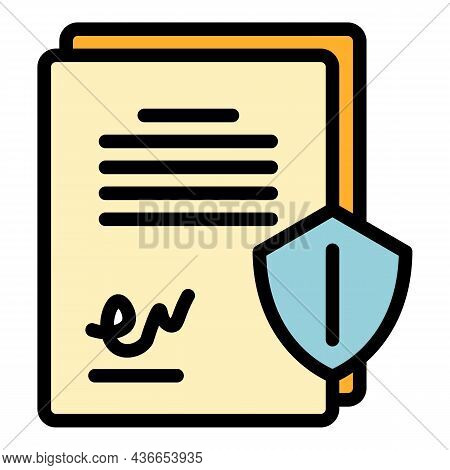 Commerce Paper Icon. Outline Commerce Paper Vector Icon Color Flat Isolated