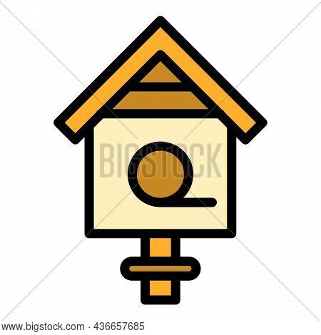 Classic Bird House Icon. Outline Classic Bird House Vector Icon Color Flat Isolated