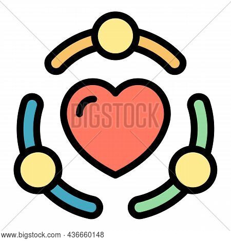 True Friendship Icon. Outline True Friendship Vector Icon Color Flat Isolated