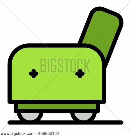 Armchair Side Icon. Outline Armchair Side Vector Icon Color Flat Isolated