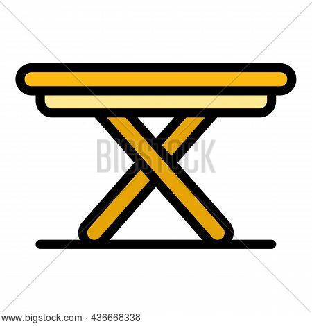 Folding Table Icon. Outline Folding Table Vector Icon Color Flat Isolated