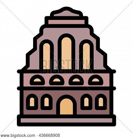 Old Riga Building Icon. Outline Old Riga Building Vector Icon Color Flat Isolated