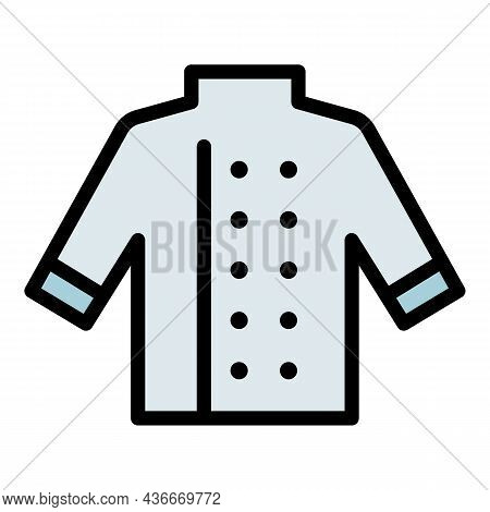 Cooking Chef Shirt Icon. Outline Cooking Chef Shirt Vector Icon Color Flat Isolated