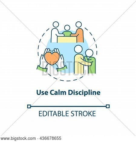 Use Calm Discipline Concept Icon. Treatment For Adhd In Adults Abstract Idea Thin Line Illustration.