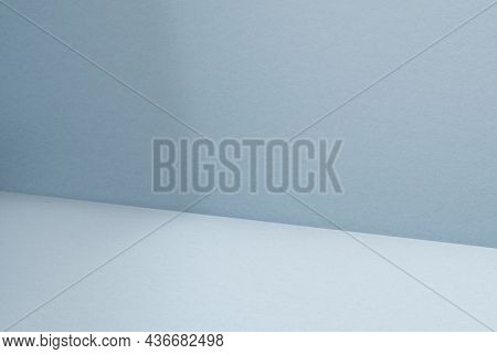 Blue product backdrop with blank space