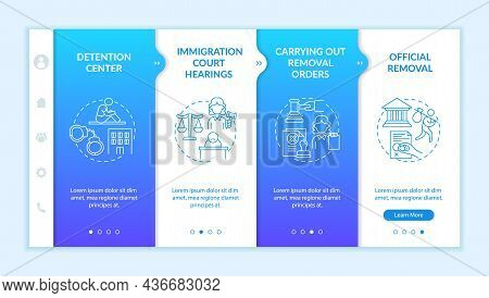 Deportation Process Onboarding Vector Template. Responsive Mobile Website With Icons. Web Page Walkt