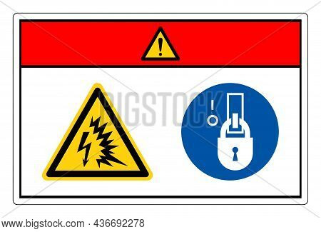 Danger Arc Flash And Shock Hazards Symbol Sign, Vector Illustration, Isolate On White Background Lab