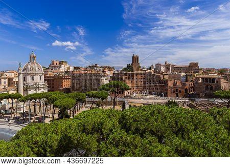 Square Piazza Venezia in Rome Italy - architecture background