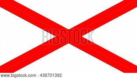 The Flag Of The St Patrick's Cross Is Occasionally Used Unofficially To Represent Northern Ireland,
