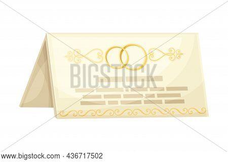 Wedding Invitation Or Greeting Card Closeup Vector Illustration