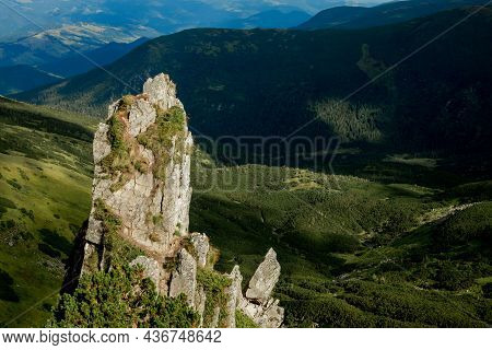 Fascinating View Of The Top Of Mount Spitz Of The Carpathian Mountains, Ukraine