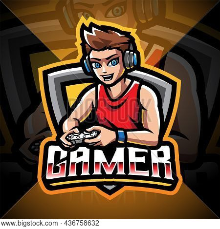 Gamer Esport Mascot Logo Design With Text
