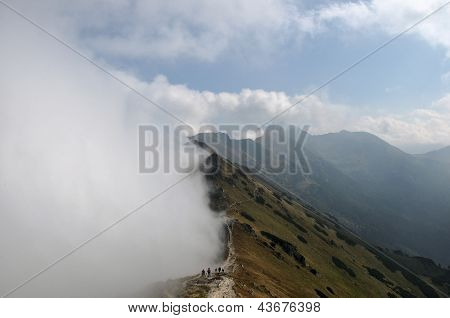 Mountains In Foggy Day