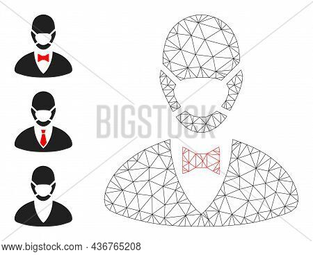 Web Carcass Boss Mask Vector Icon, And Source Icons. Flat 2d Carcass Created From Boss Mask Pictogra