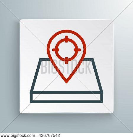 Line Hunt Place Icon Isolated On White Background. Navigation, Pointer, Location, Map, Gps, Directio