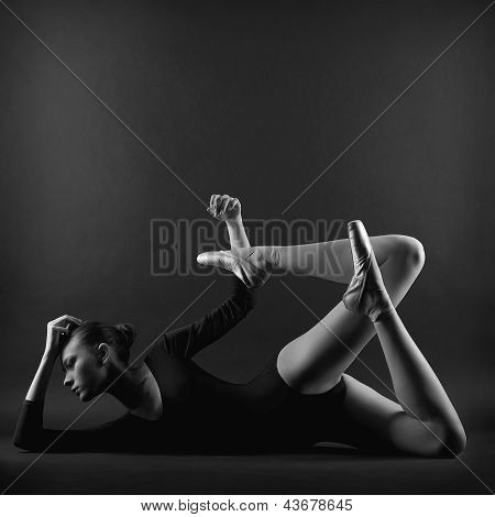 Portrait Of Young Beautiful Gymnast Woman