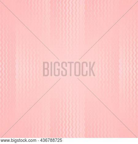 Light Pink Zigzag Seamless Pattern. Pale Rosette Color. Vector Illustration
