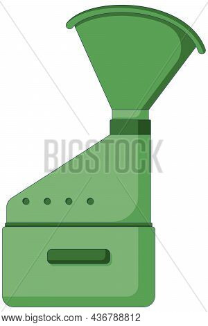 Medical Icon Of Inhaler For Asthmatic Patient In A Flat Style Isolated On A White Background.
