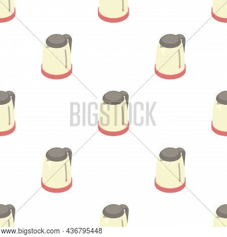 Plastic Electric Kettle Pattern Seamless Background Texture Repeat Wallpaper Geometric Vector