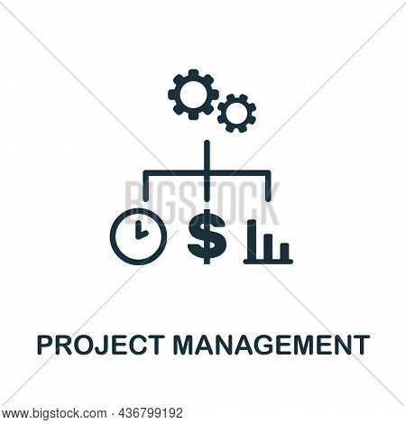 Project Management Icon. Monochrome Sign From Company Management Collection. Creative Project Manage