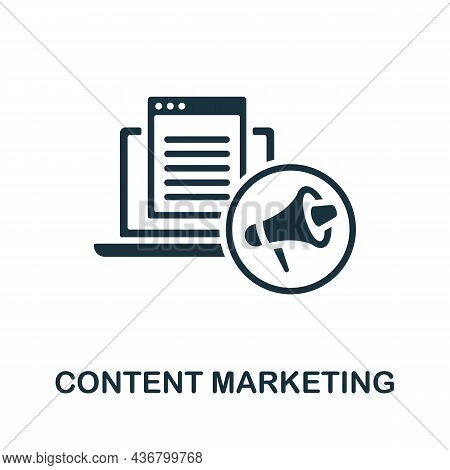 Content Marketing Icon. Monochrome Sign From Content Marketing Collection. Creative Content Marketin